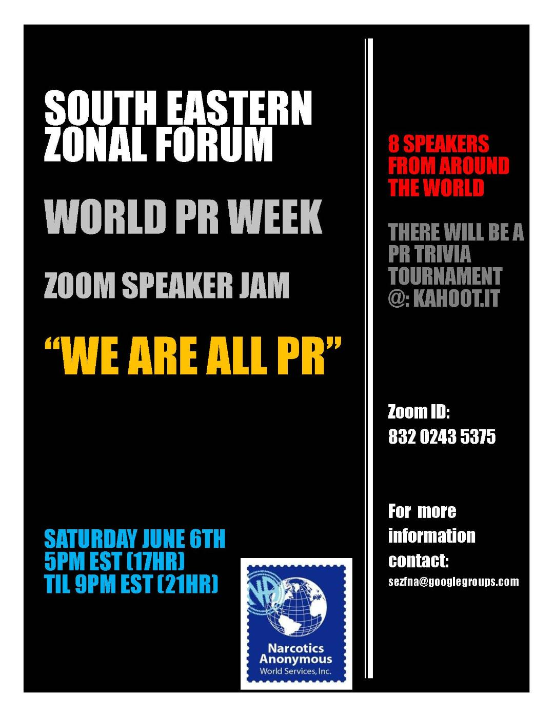 South Eastern Zonal Forum World PR Week